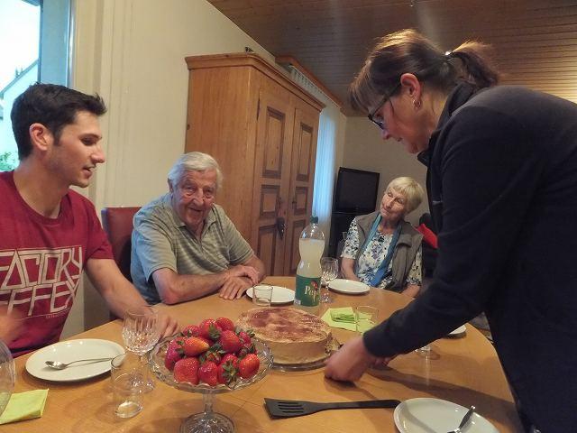 友達のお父さんのお誕生日会:スイスベルン