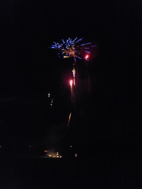 セレモニーの最後の花火:ドイツ田舎町フェスティバル