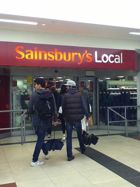 イギリスのスーパーマーケット セインズベリー(sainsbury)