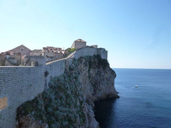 ドブロブニク城壁からの景色