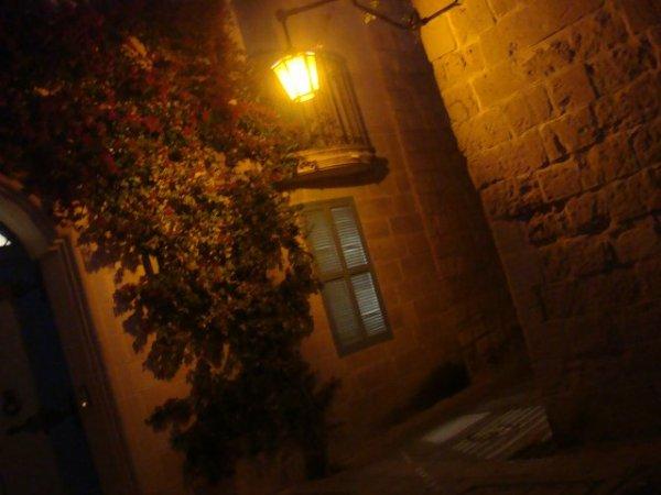 古都イムディーナの夜の街並み:マルタ観光