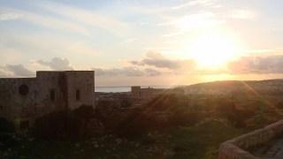 ゴゾ島から眺めるキレイな夕日