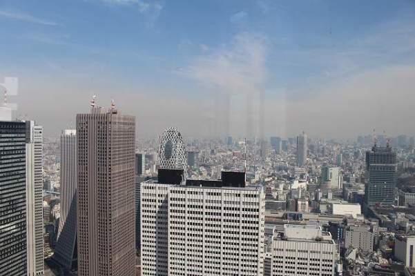 東京都庁展望台からの景色(新宿、東京都心部方面)