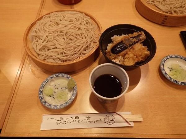 ざるそば&天ぷら丼のセット♪