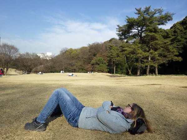 明治神宮内にある公園で一休み