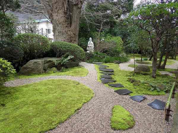 お寺の庭もとってもきれいでした:報国寺(鎌倉)