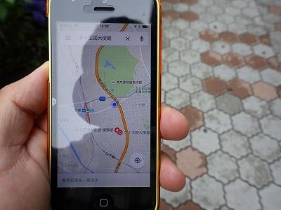 グーグルマップを見ながらの旅行ですね