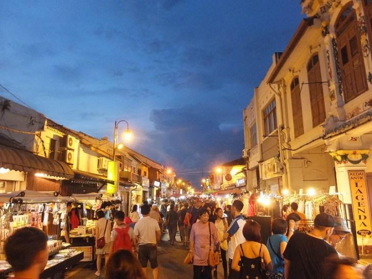 マラッカ:ジョンカーストリートのナイトマーケット