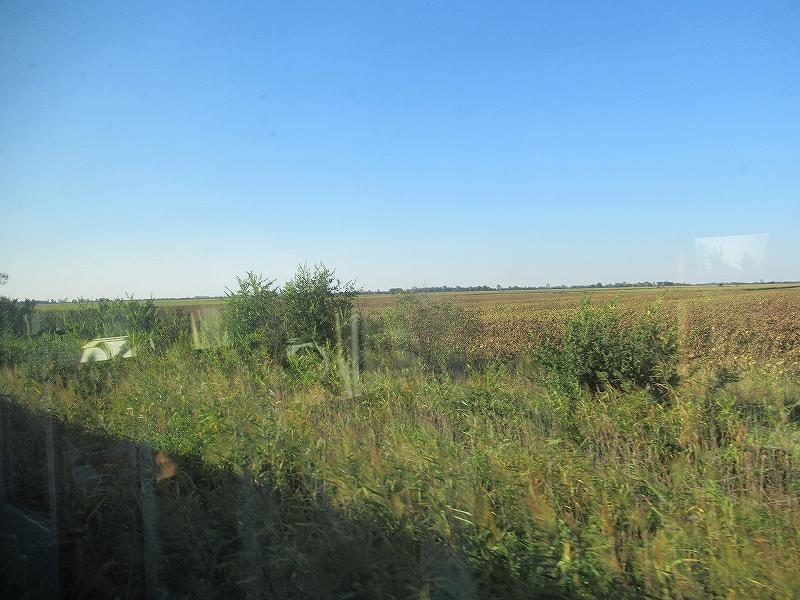 ルーマニアの車窓から見える景色