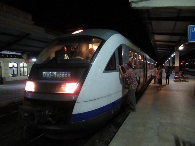 朝から電車でクルージナポカ経由でシギショアラへ!途中