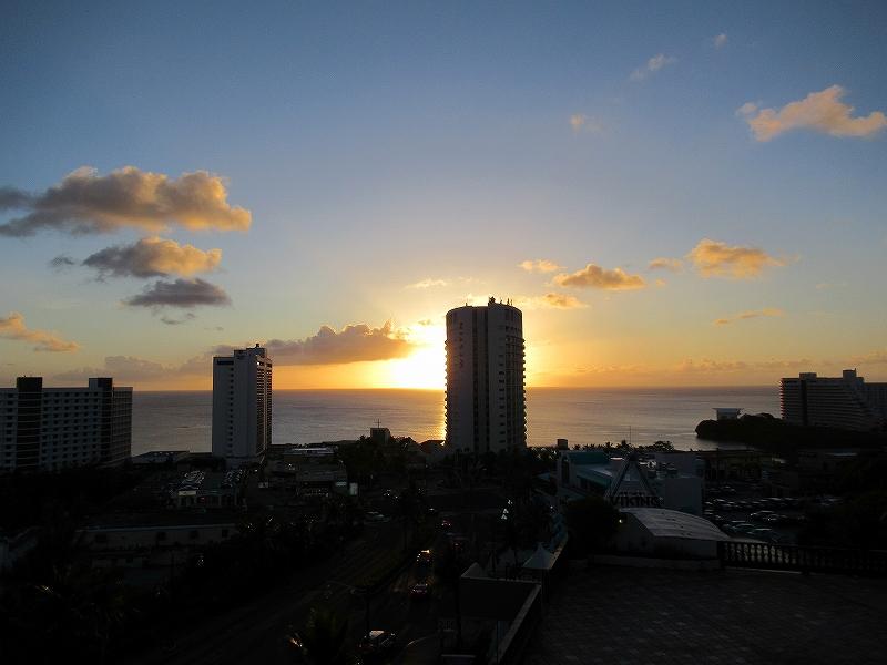 グアム:ベイビューホテルグアムからの眺め