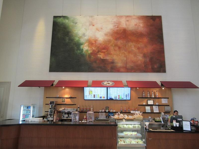 レオパレスリゾートグアムのロビーにあるカフェ!