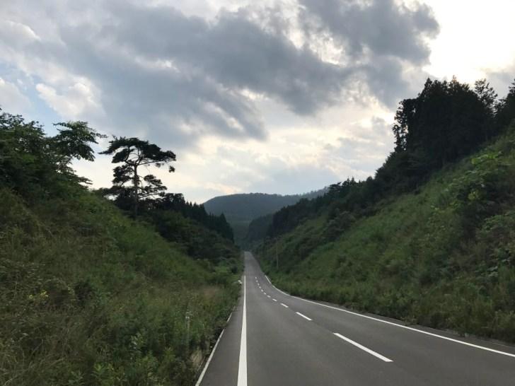 田束山からの帰り道:南三陸方面へ