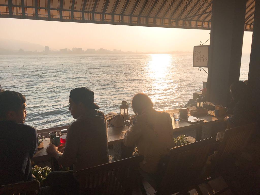 夕日が綺麗な淡水のカフェ