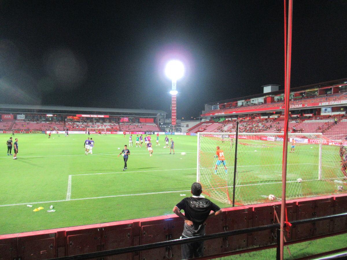 SCGスタジアム試合前の雰囲気:タイサッカープレミアリーグ