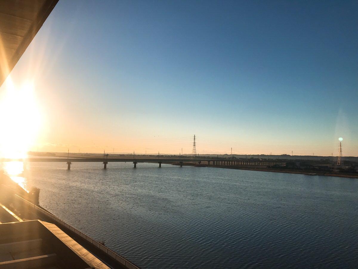 佐原・鹿島神宮旅行26:常陸利根川が見える・鹿島線が見える