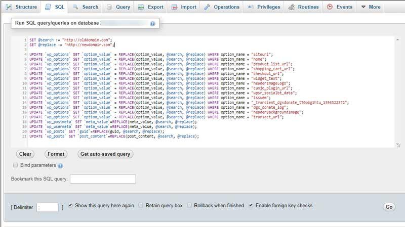 change site url in wordpress database