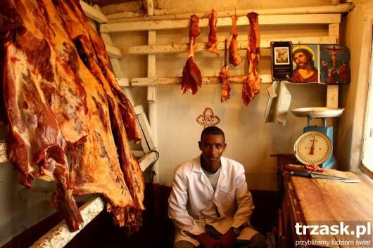 Sklep mięsny, Addis Abeba