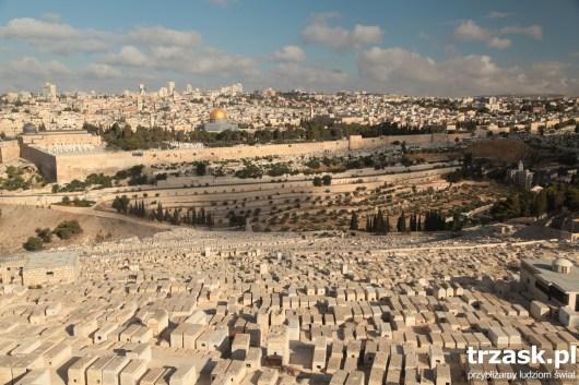 Jerozolima, widok z Góry Oliwnej, Izrael