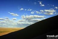 Człowiek na wydmie, Gobi, Mongolia