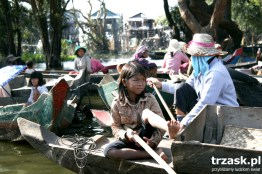 Pływająca wioska Jezioro Tonle Sap