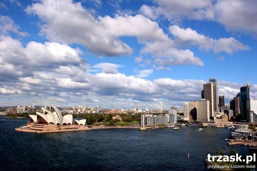 Sydney widziane z Mostu Portowego