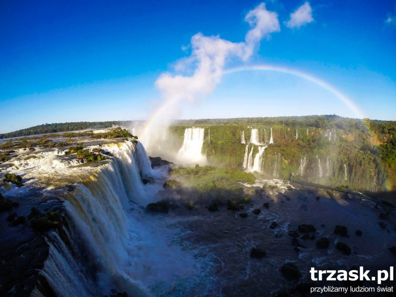 Iguasu Waterfall. In the language of Guarani Indians Iguazu means Great Water. Don't know where they got that idea from :)