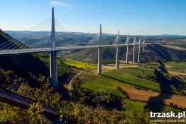 Millau Viaduct in the south of France. The highest construction of this type in the world