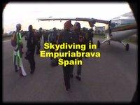 Skydiving over Empuriabrava, Spain (video)
