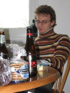 Reggeli: holland waffel es belga sor