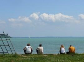 Ebéd a Balaton parton