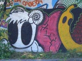 Ljubljana graffitik - nagyszemű kos