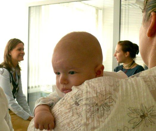 Kati meglátogatott minket a babával csütörtökön