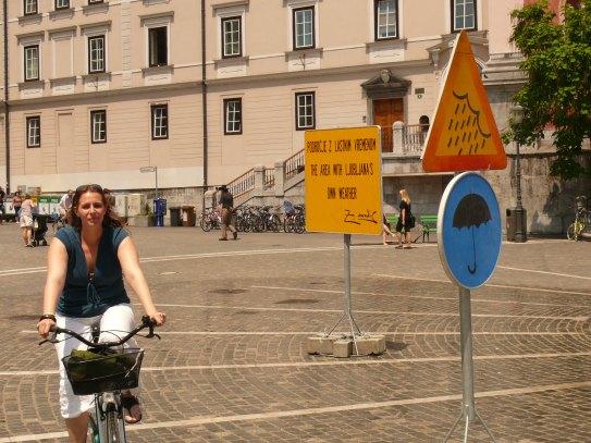 Ljubljanában, ha úgy akarják esik...
