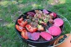 Sült zöldség nyárssal - Grillade