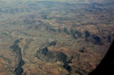 Le secteur au sud du lac Tana, vue d'avion
