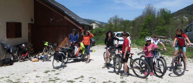 """Des cyclos venus """"d'en bas"""" pour la journée de la Via Vercors"""