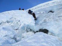 Le passage en glace de la rimaye