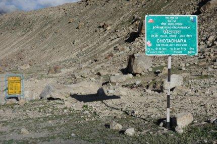 Chotadhara : différentes altitudes existent pour ce lieu, variant à 200 m près !