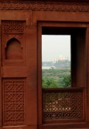 Le Fort d'Agra - Vue sur le Taj Mahal