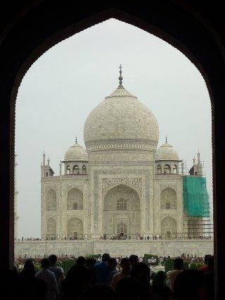 Taj Mahal en réparation...