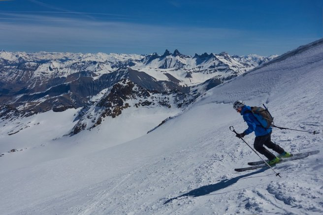 Ski de rando au Pic de l'Etendard en 2017 (Ariane, Damien)