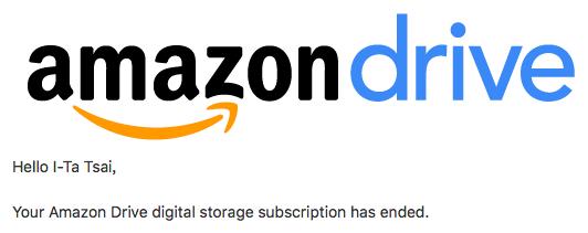 再見了 Amazon Drive
