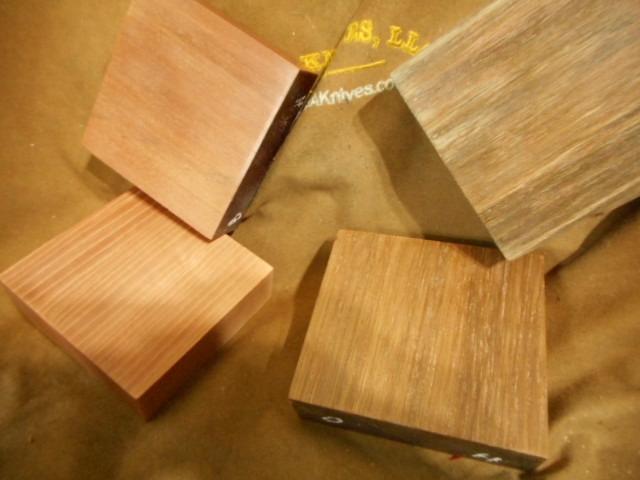 Trestle Pine Knives Wood