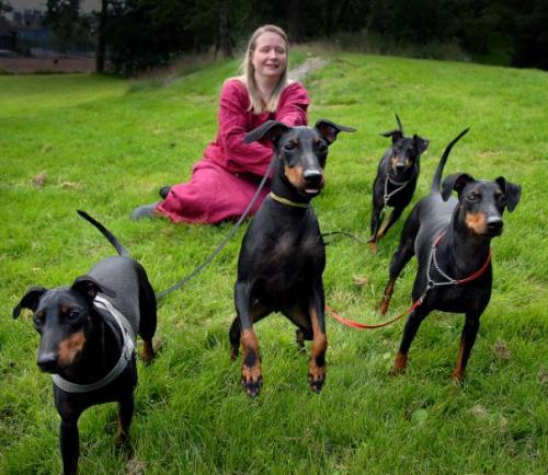 Eva med hundene
