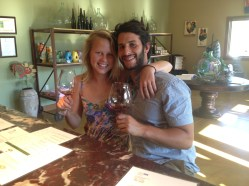 Eden and Dylan wine tasting in the Anderson Valley