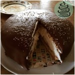Tschakko's Bananen-Kokos-Torte in Schokoladenfondant