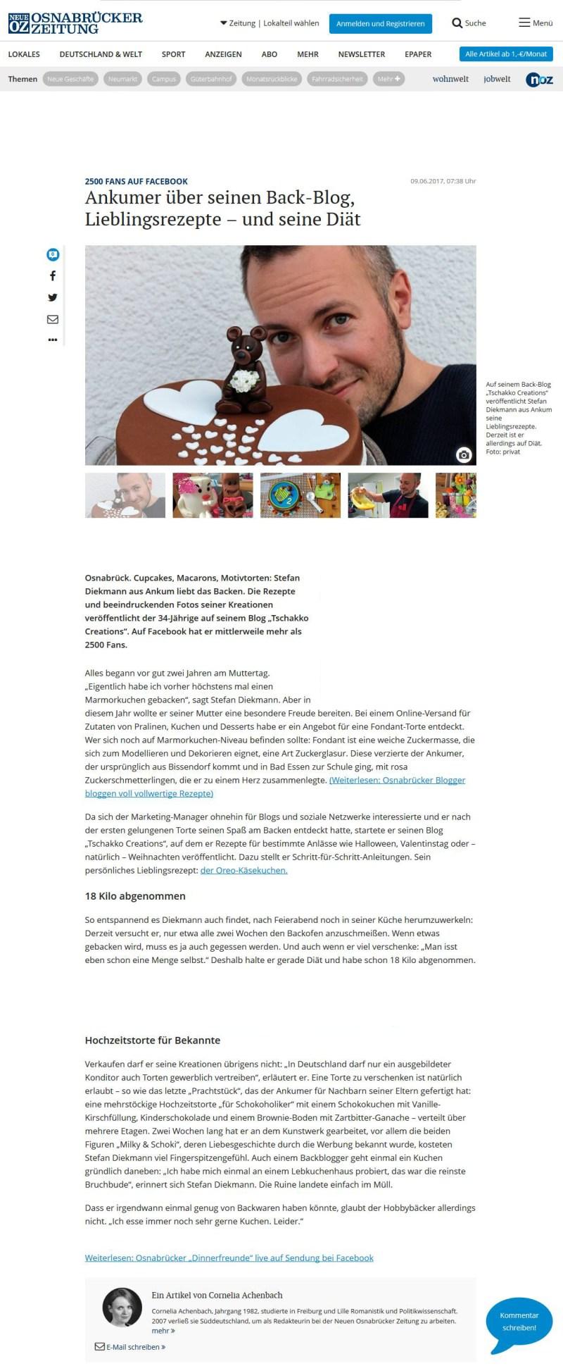 Neue Osnabrücker Zeitung online 09.06.2017