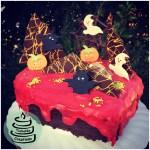 Halloween-Karotten-Nuss-Torte (Blutendes Herz)
