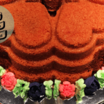 Marmorkuchen im Buttercreme-Tulpenbett